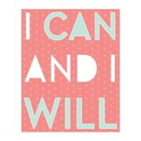 Can And Will 16-Inch x 20-Inch Canvas Wall Art