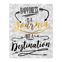 Journey To Happiness 8-Inch x 10-Inch Canvas Wall Art