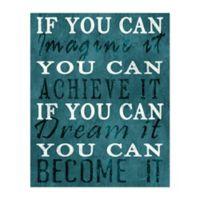 Imagine Dream Achieve 16-Inch x 20-Inch Canvas Wall Art
