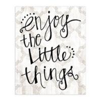 """Enjoy Little Things"" 8-Inch x 10-Inch Canvas Wall Art"
