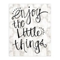 """Enjoy Little Things"" 16-Inch x 20-Inch Canvas Wall Art"