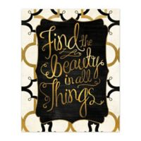 Find Beauty 16-Inch x 20-Inch Canvas Wall Art