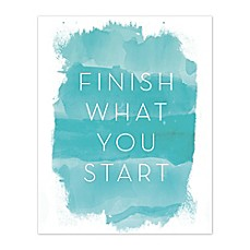 Finish What You Start Canvas Wall Art Bed Bath Amp Beyond