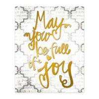 """""""Full of Joy"""" 8-Inch x 10-Inch Canvas Wall Art"""