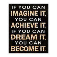 Imagine Dream Become 8-Inch x 10-Inch Canvas Wall Art