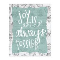 Possibly Joyful 16-Inch x 20-Inch Canvas Wall Art