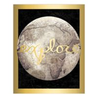 """Explore"" Gold 16-Inch x 20-Inch Canvas Wall Art"