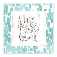 Love Forever 20-Inch x 20-Inch Canvas Wall Art
