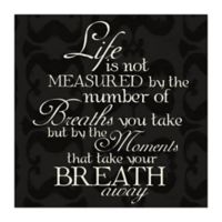 Measured Life 16-Inch x 16-Inch Canvas Wall Art
