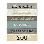 Be Amazing You 8-Inch x 10-Inch Canvas Wall Art