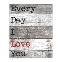 Pied Piper Creative 16-Inch x 20-Inch Every Day Love Canvas Wall Art