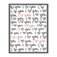 Pied Piper Creative 16-Inch x 20-Inch Love You Script Canvas Wall Art