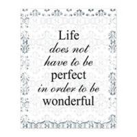 Pied Piper Creative Wonderful Life 8-Inch x 10-Inch Canvas Wall Art