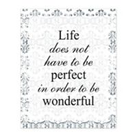 Pied Piper Creative Wonderful Life 16-Inch x 20-Inch Canvas Wall Art