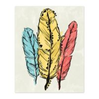 Pied Piper Creative Fun Feathers 8-Inch x 10-Inch Canvas Wall Art