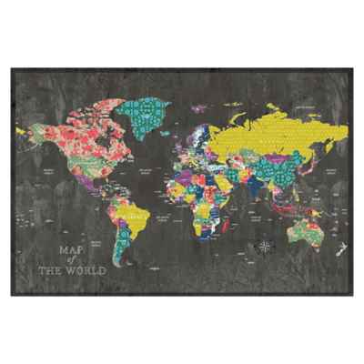 Pied Piper Creative Colorful Map Canvas Wall Art