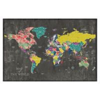 Pied Piper Creative Colorful Map 48-Inch x 32-Inch Canvas Wall Art