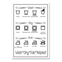 """Wash Dry Fold Repeat"" Canvas Print Wall Art"