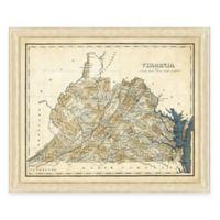 Map of Virginia Framed Print