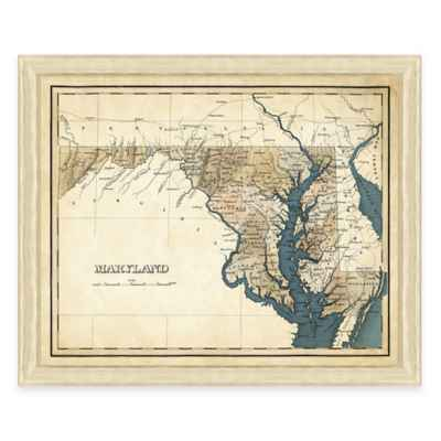 Map of Maryland Framed Print