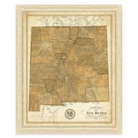 Map of New Mexico Framed Print