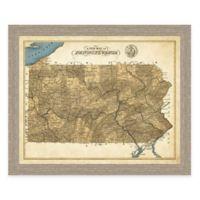 Map of Pennsylvania Framed Print