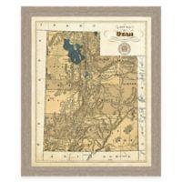 Map of Utah Framed Print