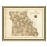 Map of Missouri Framed Print