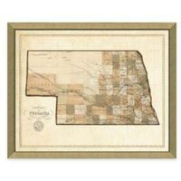 Map of Nebraska Framed Print