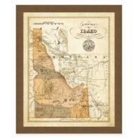 Map of Idaho Framed Print