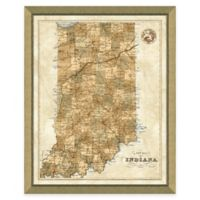 Map of Indiana Framed Print