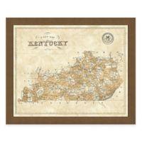 Map of Kentucky Framed Print