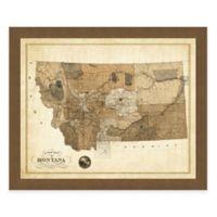 Map of Montana Framed Print