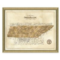 Map of Tennessee Framed Print