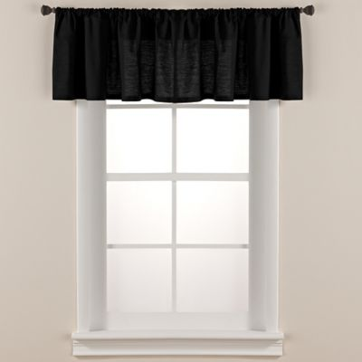 Smoothweave™ Tailored Window Valance In Black