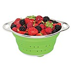 Collapsible 1.5 qt. Silicone and Stainless Steel Colander