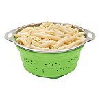 Collapsible 3 qt. Silicone and Stainless Steel Colander