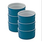 Mrs. Anderson's Baking® 4 oz. Ceramic Ramekins in Blue (Set of 6)