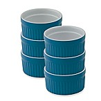 Mrs. Anderson's Baking® 6 oz. Ceramic Ramekins in Blue (Set of 6)