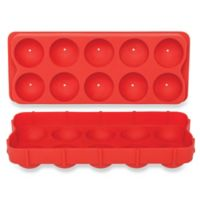 Cannonball Silicone Ice Ball Tray in Red
