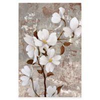 White Stemmed Florals 24-Inch x 36-Inch Canvas Wall Art