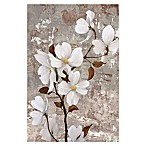 White Stemmed Florals 32-Inch x 48-Inch Canvas Wall Art