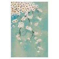 Dripping Blooms 32-Inch x 48-Inch Canvas Wall Art
