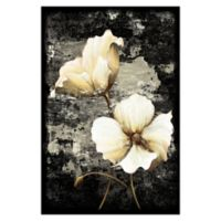 White Golden Florals 32-Inch x 48-Inch Canvas Wall Art