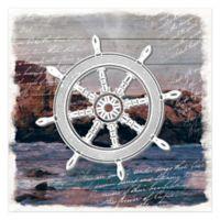 Ship's Helm 16-Inch x 16-Inch Canvas Wall Art
