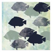 School Of Fish 16-Inch x 16-Inch Canvas Wall Art