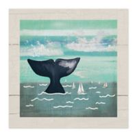 Whale Tail 12-Inch x 12-Inch Canvas Wall Art