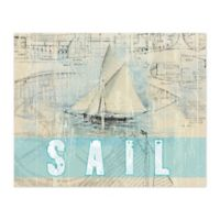 Pied Piper Creative Gone Sailing 20-Inch x 16-Inch Canvas Wall Art