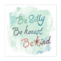 Let's Be Silly 12-Inch x 12-Inch Canvas Wall Art
