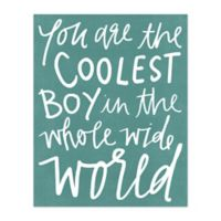 The Coolest Boy 16-Inch x 20-Inch Canvas Wall Art